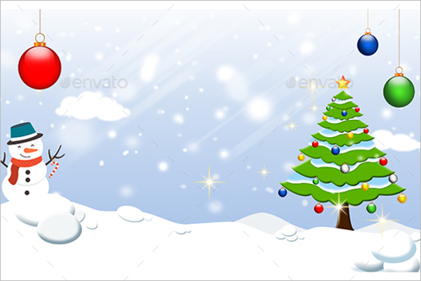 Christmas Party Background Template