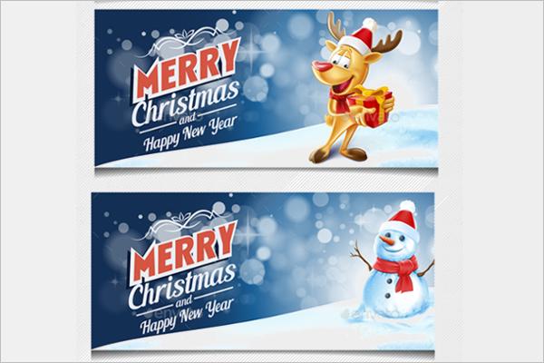 Christmas Party Invite Vector Design