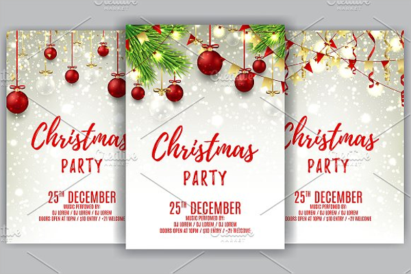 Christmas Party Poster Template Word