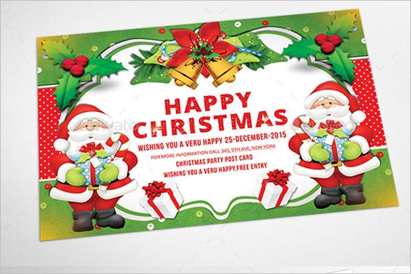 Christmas Photo Postcard Template