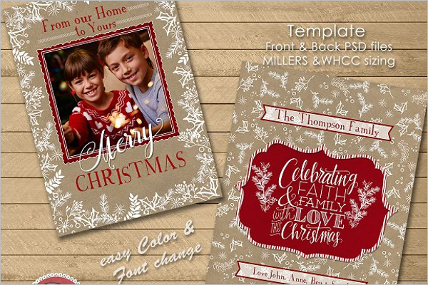 Christmas Photo Template PSD