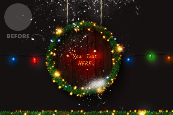 Christmas Photoshop Template