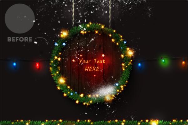 Christmas Photoshop Template