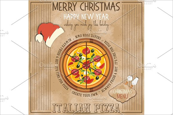 Christmas Pizza Menu Template