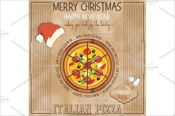 Christmas Pizza Menu Template