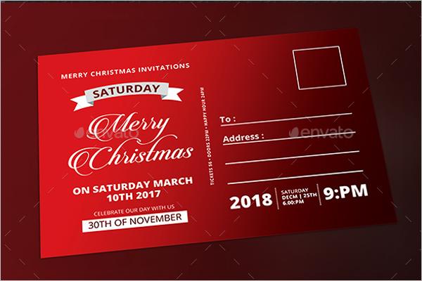 Christmas Postcard Format