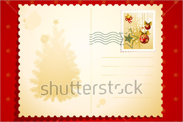 Christmas Postcard Stamp Design