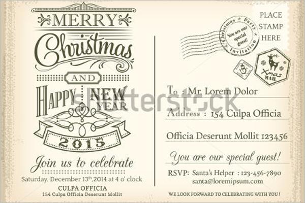 Christmas Postcard Template Word