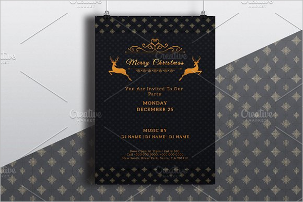 Christmas Poster Background Design