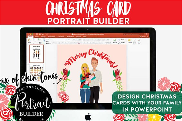 Christmas PowerPoint Portrait Design
