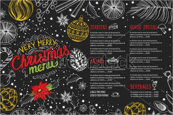 Christmas Restaurant Brochure Template