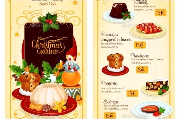 Christmas Restaurant Menu Template