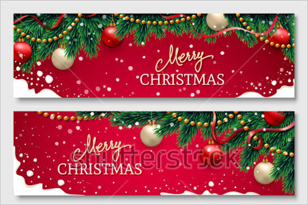 Christmas Ribbon Banner Template