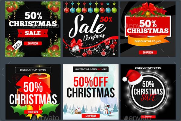 Christmas Sale Banners PSD Template