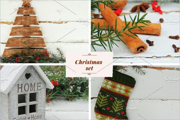Christmas Set Photo Template