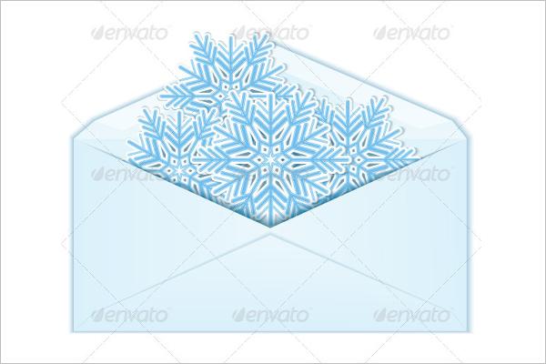 Christmas Snowflakes Envelope Template