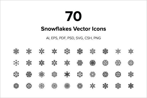 Christmas Snowflakes Vector Icons
