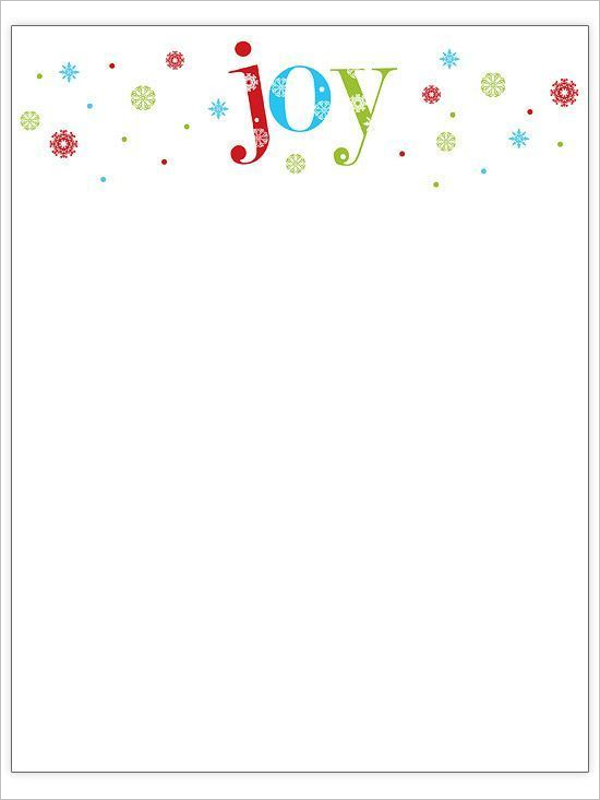 Christmas Stationery Letter Template