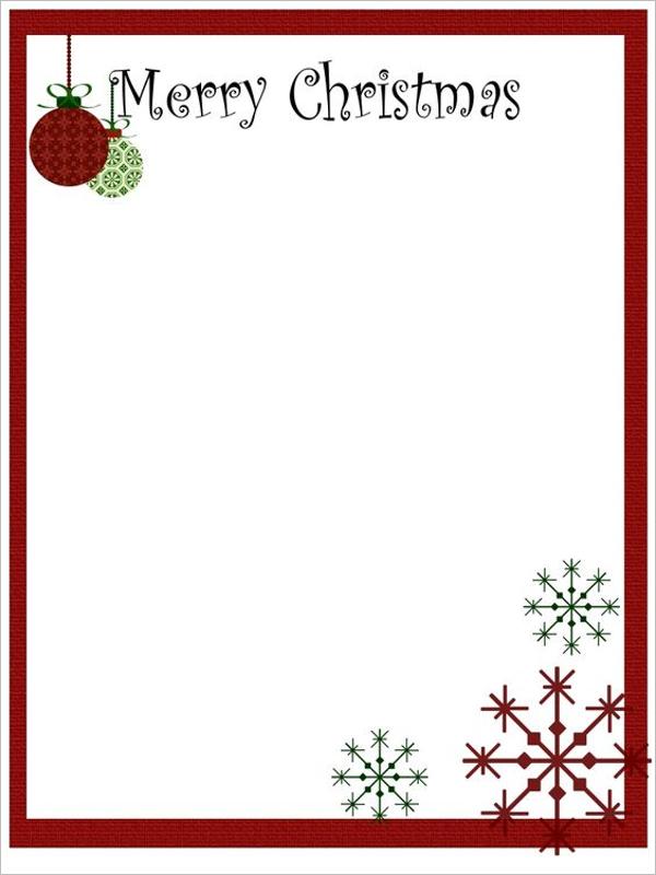 Christmas Stationery PSD Design