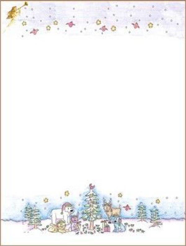 Christmas Stationery Paper Design