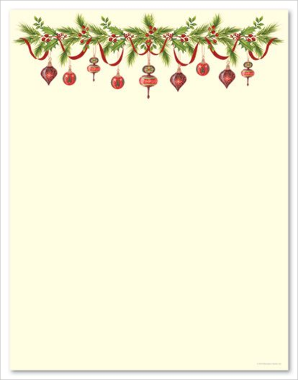 Christmas Stationery for Word