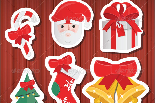 Christmas Stickers Icons Set