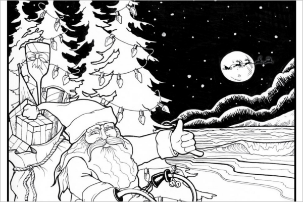 Christmas Story Coloring Page