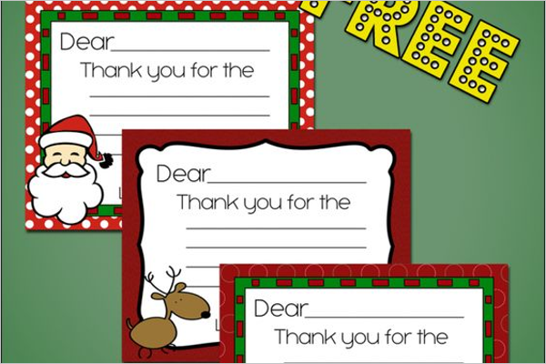 Christmas Thank You Note Free