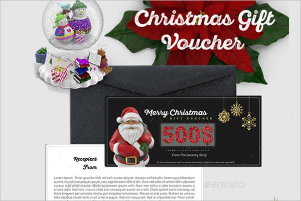 Christmas Voucher Sample Template