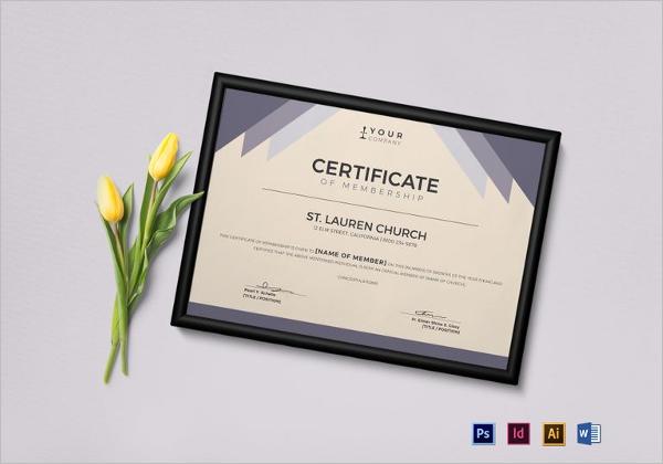 Church Awards Certificate Template