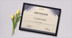 20+ Printable Church Certificate Templates