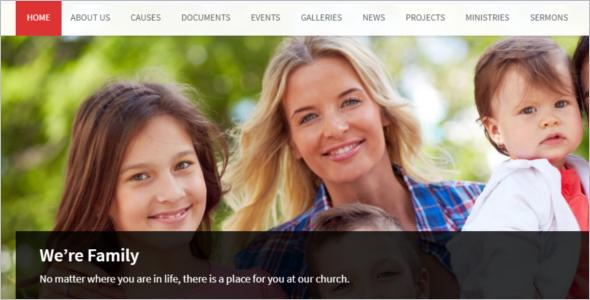Church Program Website Template