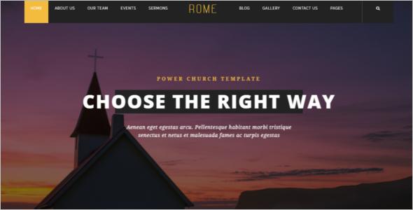Church Website Builder Template