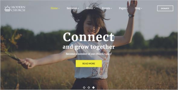Church Website Design Template