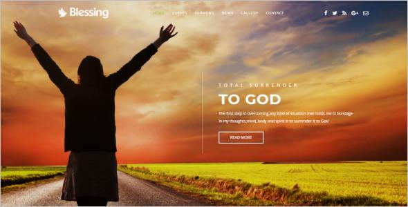 Church Website Template HTML