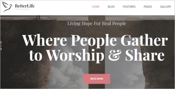 Church Website Template Joomla