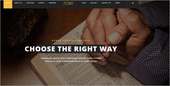 Church Website Template WordPress