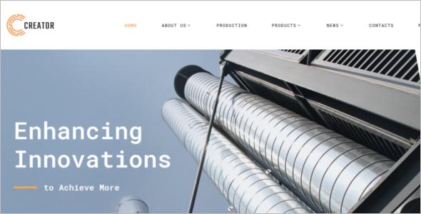 Civil Engineering Multipage Website Template