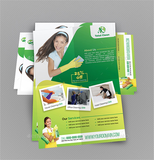 Cleaning Flyer Bundle Template