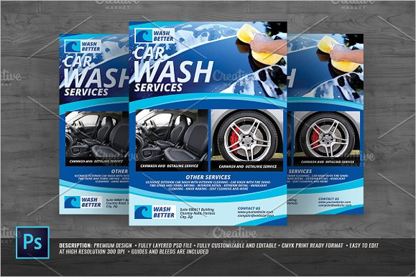 30 sample cleaning flyer templates free psd word ideas for Car wash poster template free