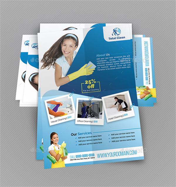 Cleaning Flyer Template Word