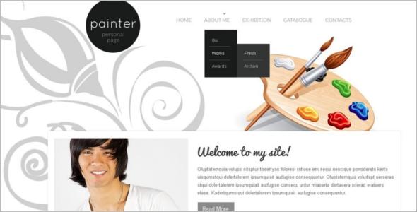 Clip Art Website Template
