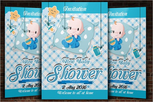 26  baby shower flyer templates free psd  word sample ideas
