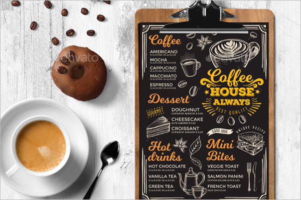 Coffee Menu Card Template