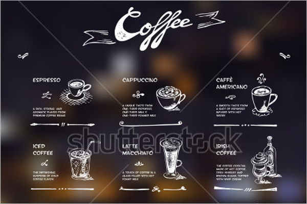 Coffee Menu Free Template