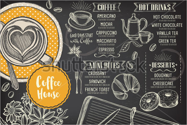 Coffee Menu Illustration Template