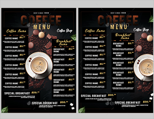 30  breakfast menu templates free sample menu card ideas