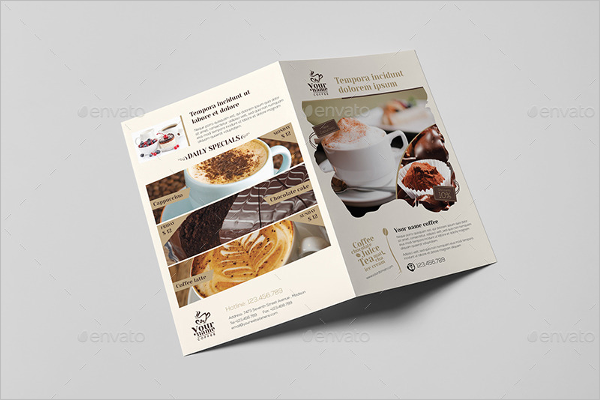 Coffee Shop Menu Template Word