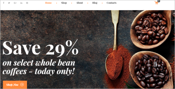 Coffee Shop WooCommerce Theme
