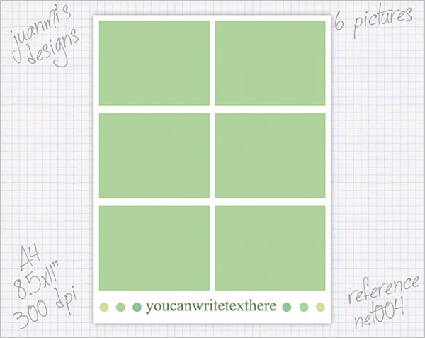Collage Notebook Cover Template